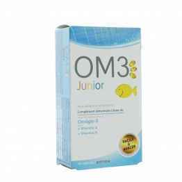 OM3 JUNIOR OMEGA3 ENFANTS ET ADOLESCENTS 60 CAPSULES GOUT FRAISE