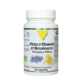 ONAGRE BOURRACHE BIOLOGIQUE 60 CAPSULES VIT'ALL+
