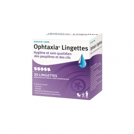 OPHTAXIA LAVAGE OCULAIRE 20 LINGETTES