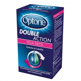 OPTONE DOUBLE ACTION YEUX SECS HYDRATE ET LUBRIFIE 10ML