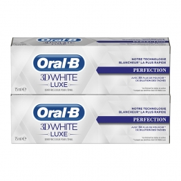 ORAL B DENTIFRICE 3D WHITE LUXE PERFECTION 2X75ML
