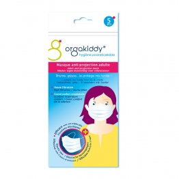 ORGAKIDDY MASQUE ANTI-PROJECTION ADULTE BLANC SACHETS DE 5