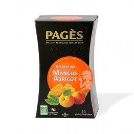 PAGES THE VERT MANGUE ABRICOT BIO 20 SACHETS