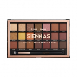 PALETTE OMBRES A PAUPIERES SIENNAS 21 TEINTES PROFUSION COSMETICS