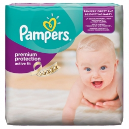 PAMPERS COUCHES ACTIVE FIT T3 5-9KG 28 UNITES