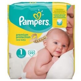 PAMPERS NEW BABY COUCHES TAILLE 1 2-5 KG X22
