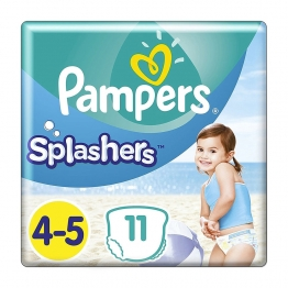 PAMPERS SPLASHERS MAILLOTS DE BAIN JETABLES TAILE 4-5 (9-15kg) X11