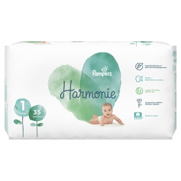 PAMPERS HARMONIE COUCHES TAILLE 1 2-5KG 35 UNITES