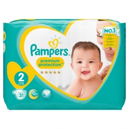 PAMPERS PREMIUM PROTECTION TAILLE 2 4-8 KG 31 COUCHES