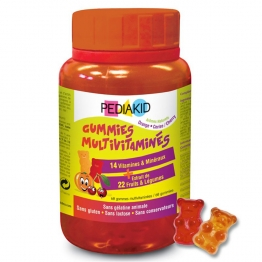 PEDIAKID GUMMIES GOMMES MULTIVITAMINES X60