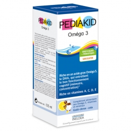 PEDIAKID OMEGA 3 SIROP GOUT CITRON COLA 125ML