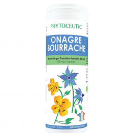 PHYTOCEUTIC HUILE D'ONAGRE BOURRACHE 1ERE PRESSIONS A FROID 270 CAPSULES