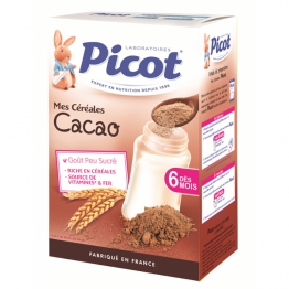 PICOT CEREALES CACAO DES 6 MOIS 400G