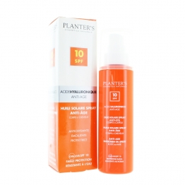 PLANTER'S HUILE SOLAIRE SPRAY ANTI-AGE SPF10 CORPS ET CHEVEUX 100ML