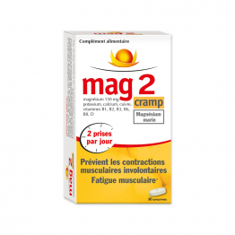 Previent les contractions musculaires involontaires, Fatigue musculaire 30 comprimes CRAMP Mag 2