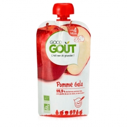 PUREE DE FRUIT BIO 120G DES 4 MOIS GOOD GOUT
