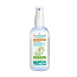 PURESSENTIEL LOTION SPRAY ANTIBACTERIENS MAINS ET SURFACES 3 HE 80ML