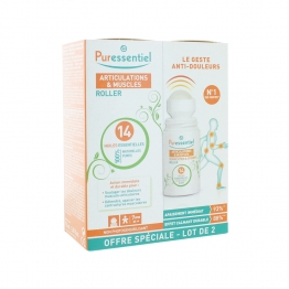 PURESSENTIEL ARTICULATIONS & MUSCLES ROLLER AUX 14 HUILES ESSENTIELLES 2X75ML