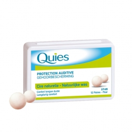 QUIES PROTECTION AUDITIVE CIRE NATURELLE CONFORT LONGUE DUREE X12