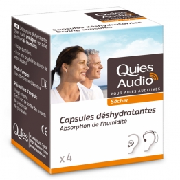 QUIES AUDIO SECHER KIT 4 CAPSULES DESHYDRATANTES + GOBELET