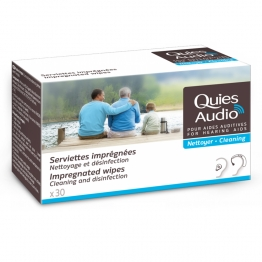 QUIES AUDIO NETTOYER SERVIETTES IMPREGNEES X30