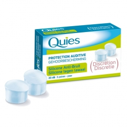 QUIES PROTECTION AUDITIVE SILICONE ANTI BRUIT 3 PAIRES