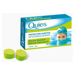 QUIES PROTECTION AUDITIVE SILICONE SPECIAL NATATION 3 PAIRES