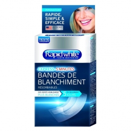 RAPID WHITE BANDES DE BLANCHIMENT EXPRESS 14 SACHETS DE 2 BANDES + 1 ACCELERATEUR