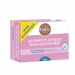 Recharge 20 embouts mouche-bebe x20 embouts Gifrer