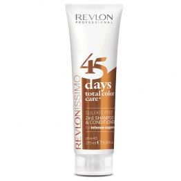 REVLONISSIMO 45 DAYS COLOR CARE SHAMPOOING & CONDITIONER APRES-SHAMPOOING INTENSE COPPER 275ML