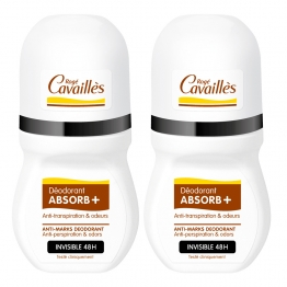 ROGE CAVAILLES ABSORB+ DEO INVISIBLE ROLL-ON LOT DE 2X50ML