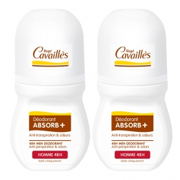 ROGE CAVAILLES HOMME ABSORB+ DEO REGULATEUR 48H ROLL-ON 2X50ML