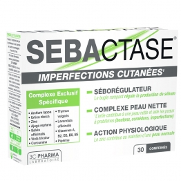 3C PHARMA SEBACTASE IMPERFECTIONS CUTANEES 30 COMPRIMES