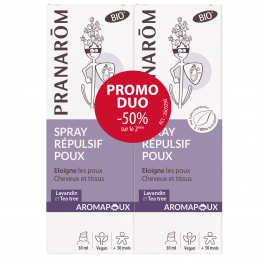 AROMAPOUX SPRAY ANTI-POUX BIO (ECO) 2 X 30ML PRANAROM