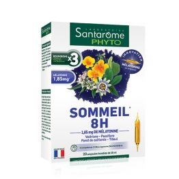 SANTAROME PHYTO SOMMEIL 8H 20 AMPOULES