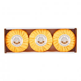 SAVON PARFUME BASE 100% VEGETALE 3X100G BOIS D'ORANGE ROGER & GALLET