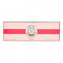 SAVON PARFUME BASE 100% VEGETALE 3X100G ROSE ROGER & GALLET