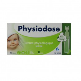 Serum physiologique sterile 40x5ml Physiodose