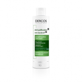 SHAMPOOING ANTI-PELLICULAIRE 200ML DERCOS CHEVEUX NORMAUX A GRAS VICHY