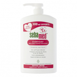 SHAMPOOING BRILLANCE EXTRA-DOUCEUR 700ML+ 300ML OFFERTS EVERYDAY SEBAMED