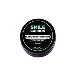 SMILE CARBON CHARBON ACTIF MENTHE BLANCHIMENT DE DENTS NATUREL 30G