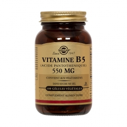 SOLGAR VITAMINE B5 (ACIDE PANTOTHENIQUE) 50 GELULES