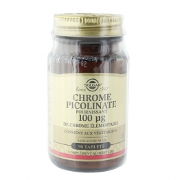 SOLGAR CHROME PICOLINATE 100µG 90 TABLETS
