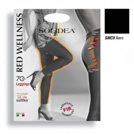 SOLIDEA RED WELLNESS 70 DEN LEGGINGS NERO