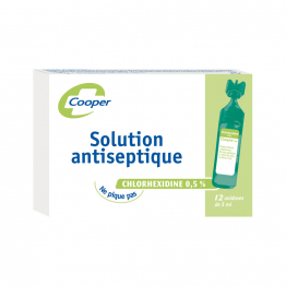 Solution Antiseptique 12x5ml Cooper
