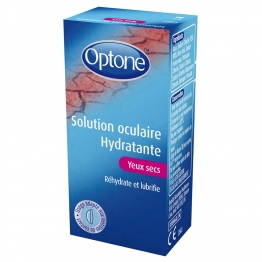SOLUTION OCULAIRE HYDRATANTE YEUX SECS FLACON 10ML OPTONE