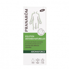 SOLUTION DEFENSES NATURELLES BIO 30ML AROMAFORCE PRANARÔM