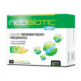 SOUCHES MICROBIOTIQUES PRESERVEES 20 STICKS CI NEOBIOTIC SANTE VERTE