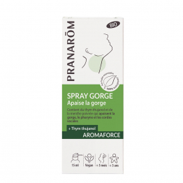 Spray Gorge Bio 15ml Aromaforce + Thym à thujanol Pranarôm