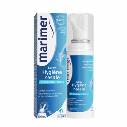 Spray Hygiene Nasale 100ml Nez encombré et nez sec Marimer